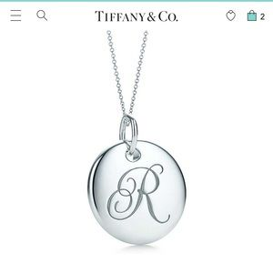 Tiffany &Co. R initial necklace.